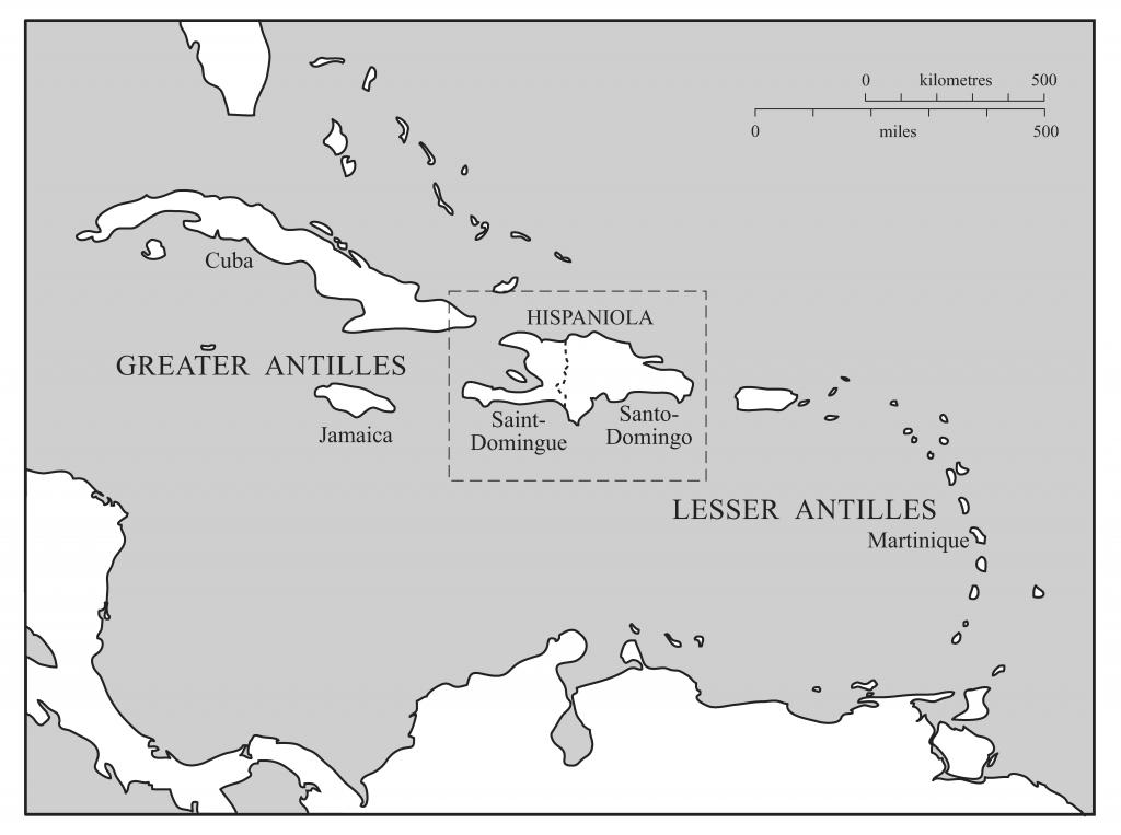 Map of the Eighteenth-Century Caribbean