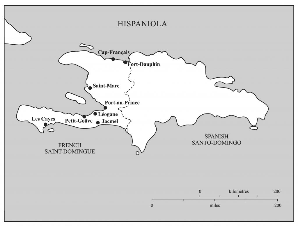 Map of Eighteenth-Century Saint-Domingue